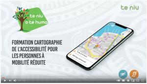 Sensibilisation à la cartographie de l'accessibilité PMR pour la fédération Te Niu o Te Huma ©Te Niu o Te Huma